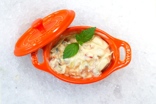 Owoce morza w sosie majonezowo-paprykowym