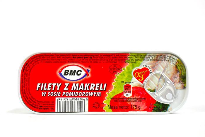 Filety z makreli w sosie pomidorowym 175g